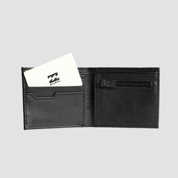 Billabong Die Cut Faux Leather Wallet Black