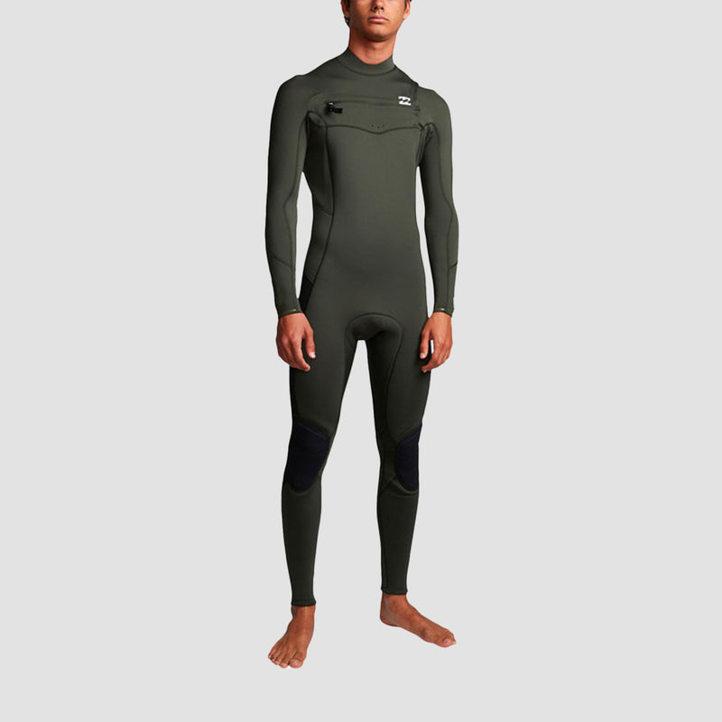 Billabong Furnace Absolute 3/2mm Chest Zip Wetsuit Olive