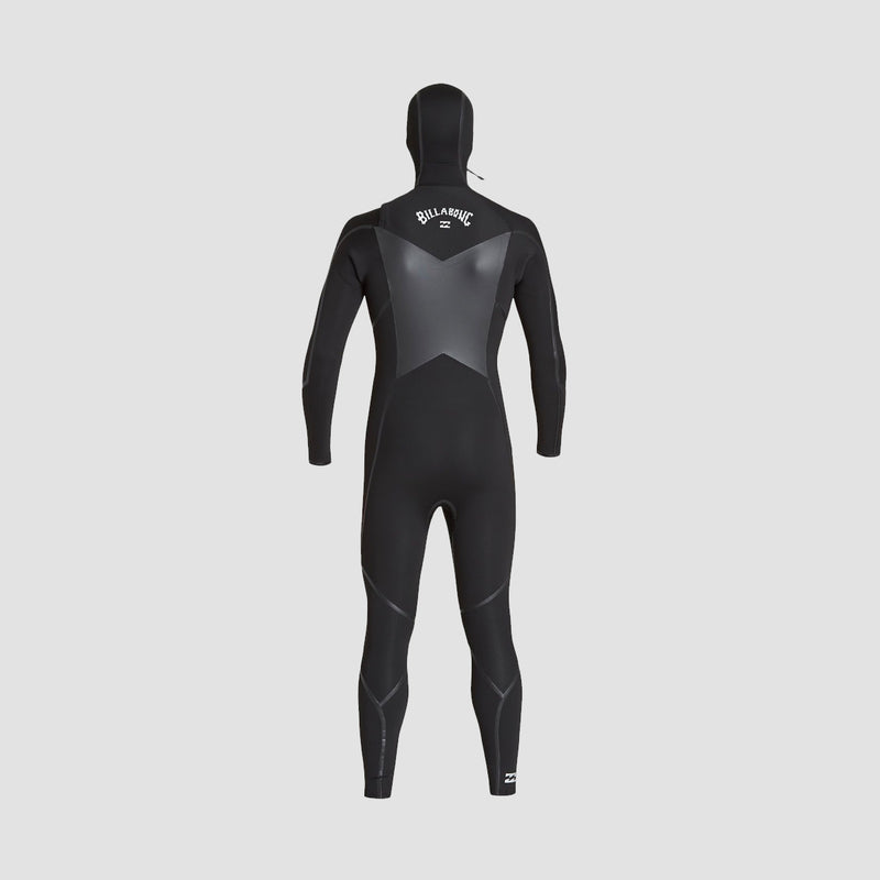 Billabong Furnace Absolute X ABS 5/4mm Hooded Chest Zip Wetsuit Black