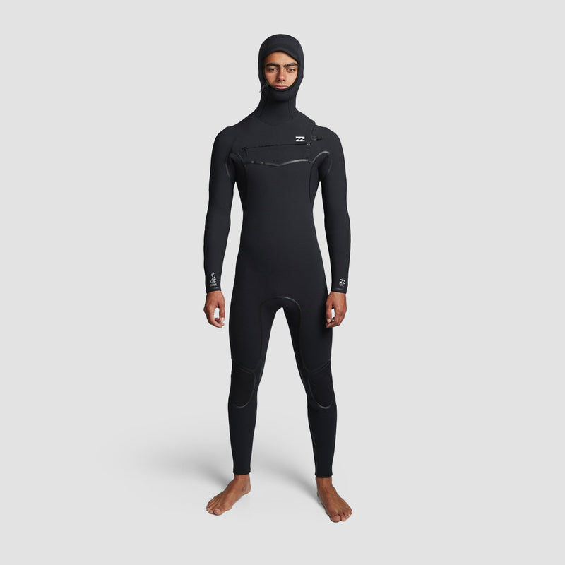 Billabong Furnace Carbon Ultra B 6/5mm Hooded Chest Zip Wetsuit Black
