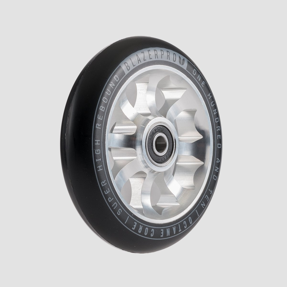 Blazer Pro Octane Scooter Wheel x1 With Abec-9 Silver.110mm - Scooter