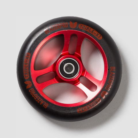 Blazer Pro Triple XT Scooter Wheel x1 Black/Red 110mm