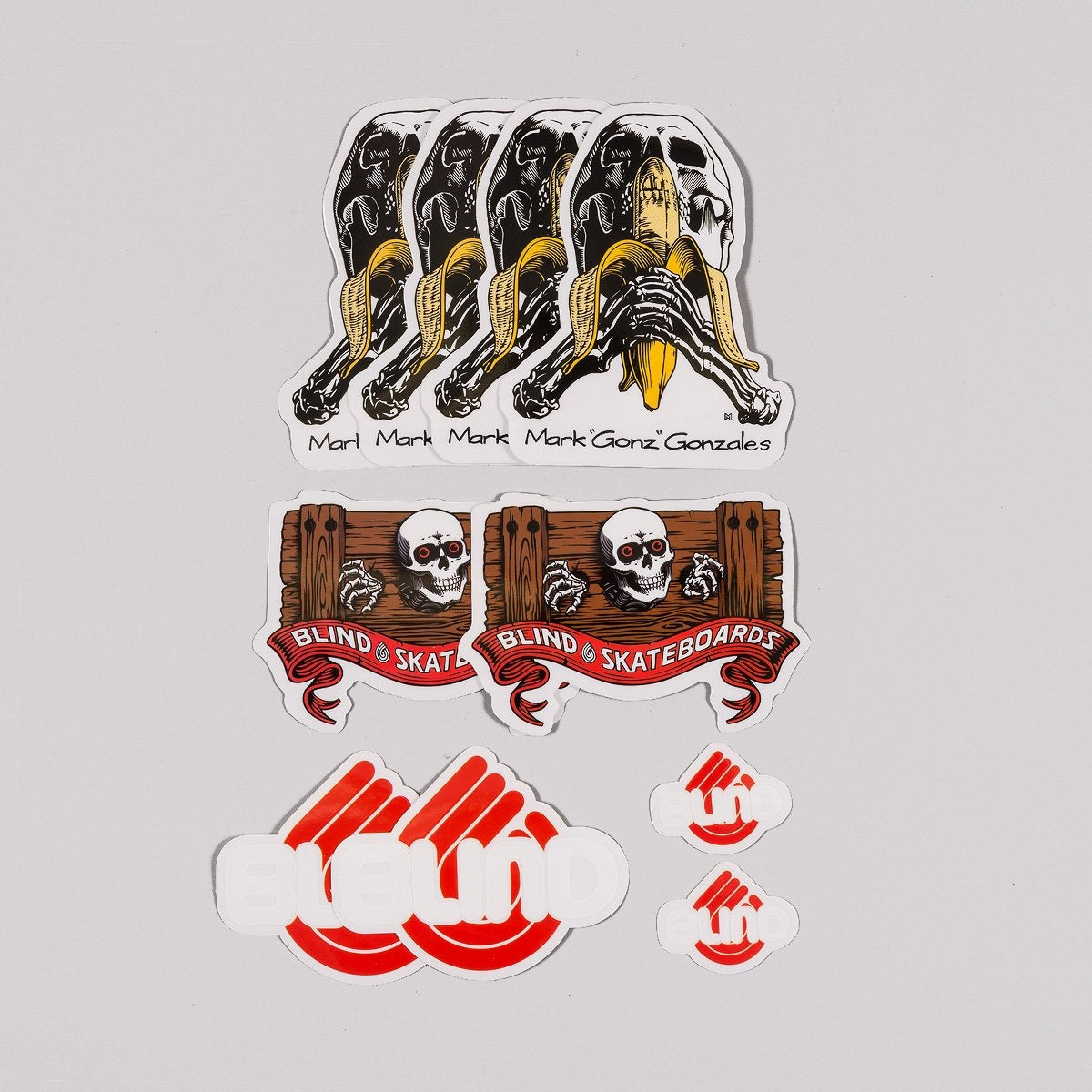 Blind Heritage Mark Gonzales Skull Series Sticker Pack x10 - Skateboard