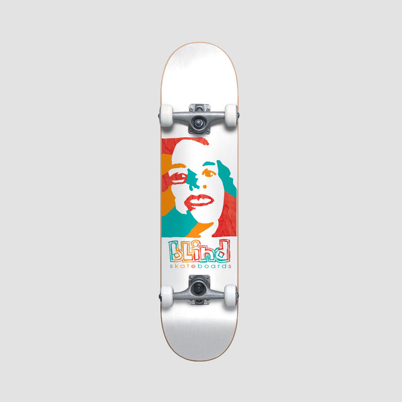 Blind Psychedelic Girl FP Premium Pre-Built Complete White - 7.75""