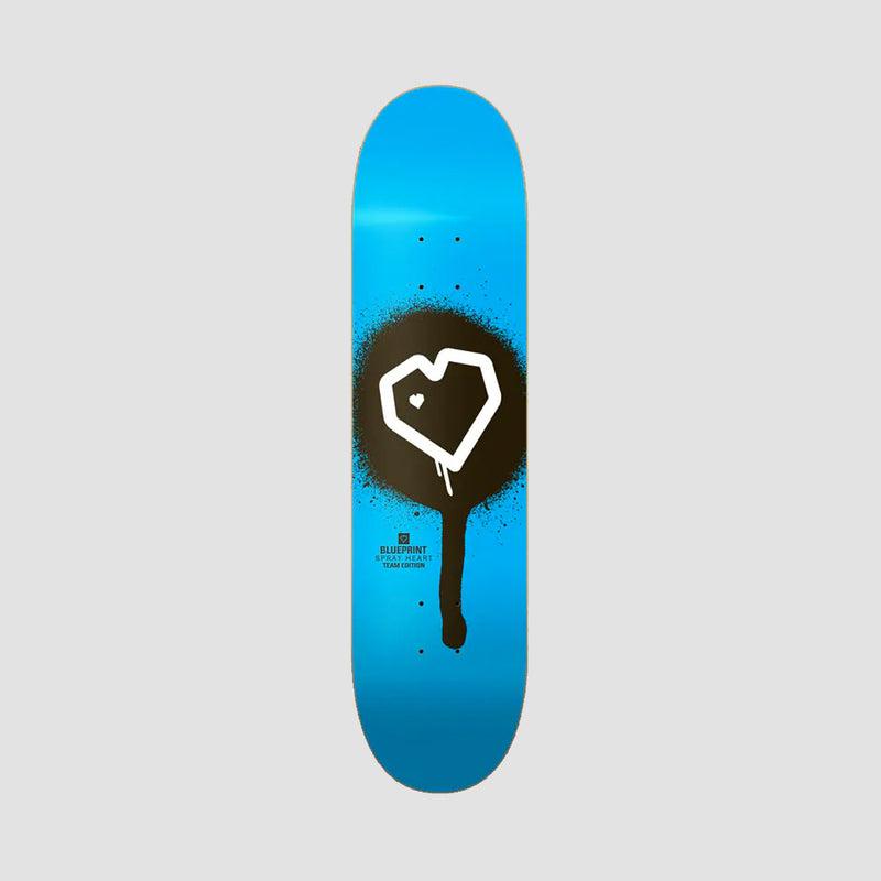 Blueprint Spray Heart Deck Blue - 8""