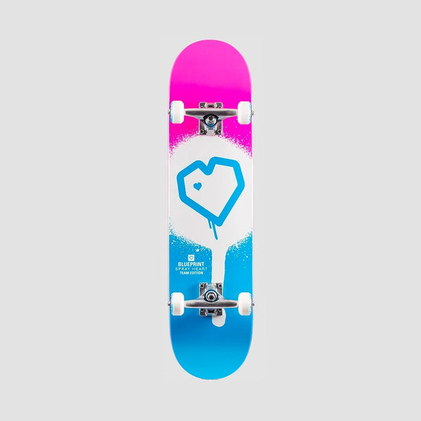 Blueprint Spray Heart Pre-Built Complete Blue/Pink - 8.25""