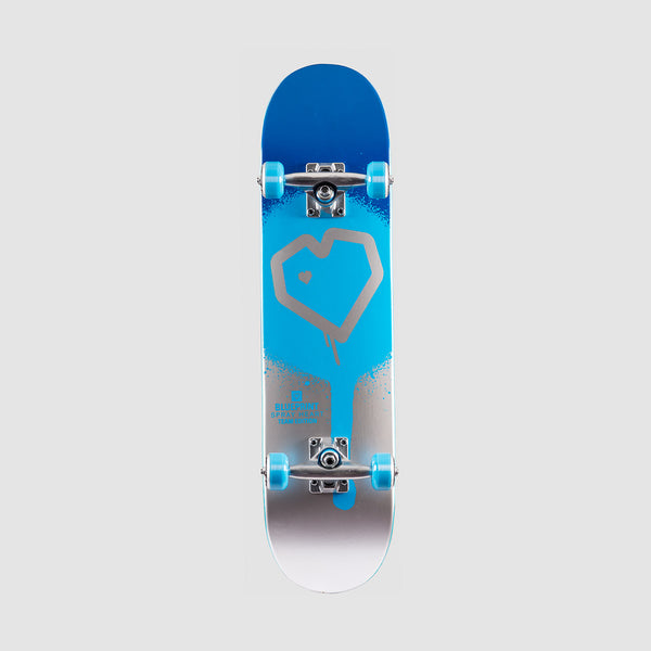 Blueprint Spray Heart Pre-Built Complete Blue/Silver - 7.5""