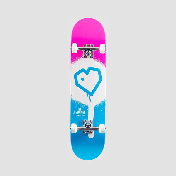 Blueprint Spray Heart Pre-Built Complete Blue/Pink - 7.75 - Skateboard