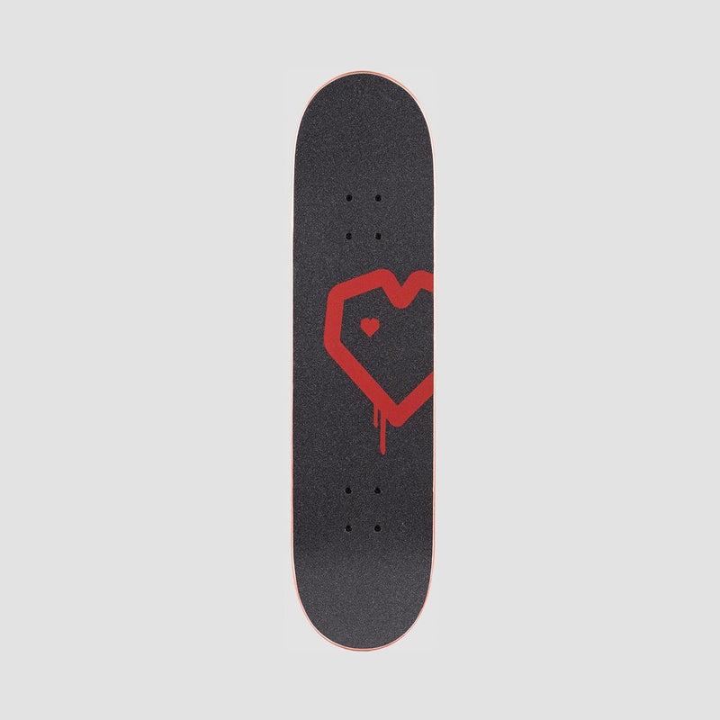 Blueprint Spray Heart Pre-Built Complete Rasta - 8 - Skateboard