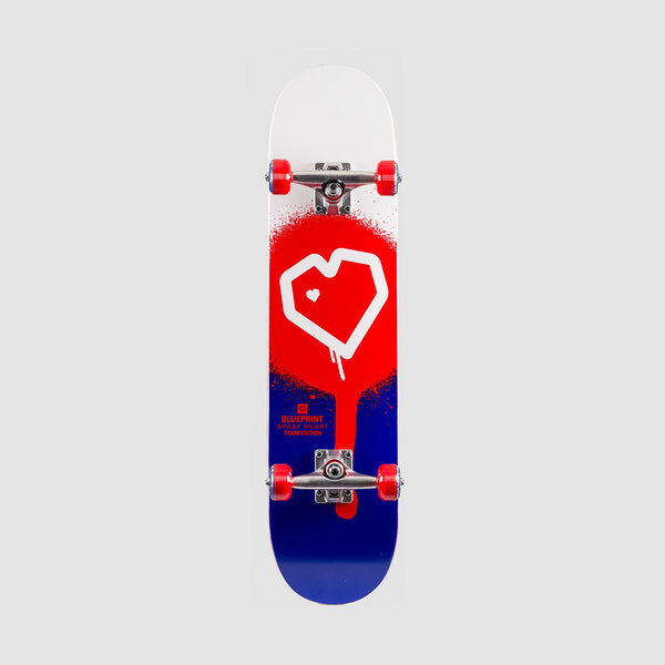Blueprint Spray Heart Pre-Built Complete Red/Blue - 8""