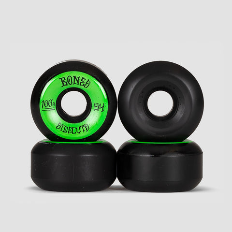 Bones 100s #2 V5 Sidecut Wheels Black 54mm