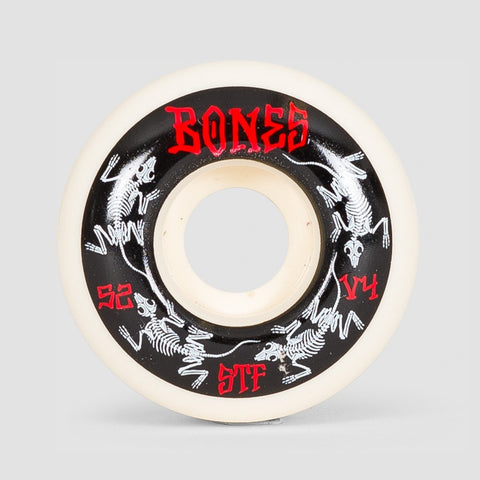 Bones Annuals V4 STF Wheels White 52mm - Skateboard