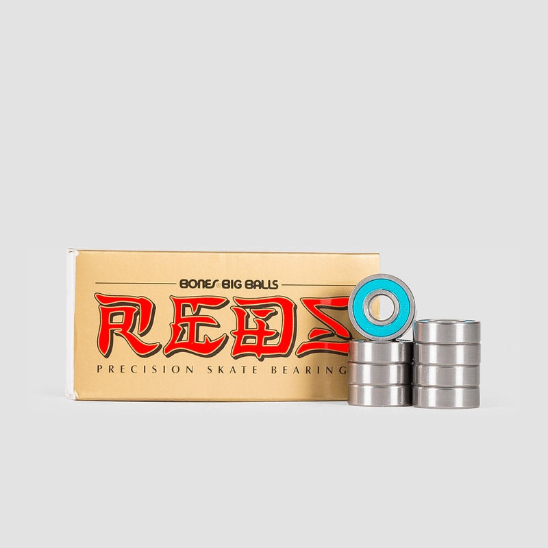 Bones Big Balls Reds Bearings x8 - Skateboard