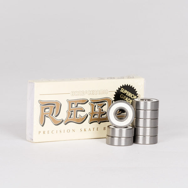 Bones Ceramic Reds Bearings x8 - Skateboard