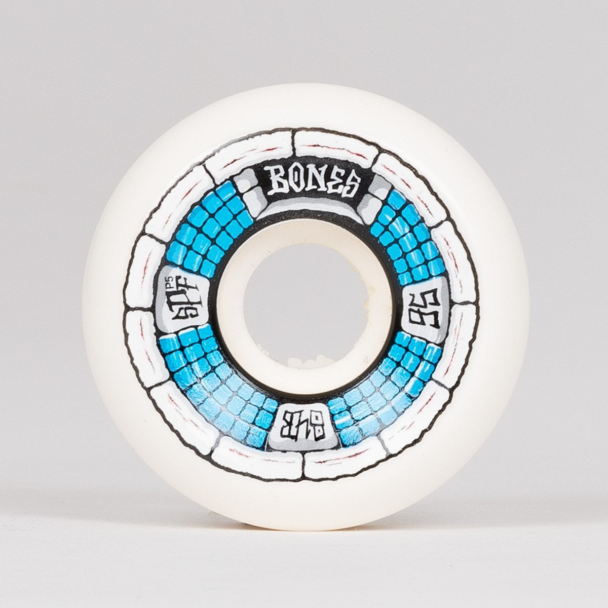 Bones Deathbox 84b P5 SPF Wheels White 56mm - Skateboard