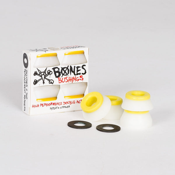 Bones Hardcore Bushings Medium Yellow/White x2 - Skateboard