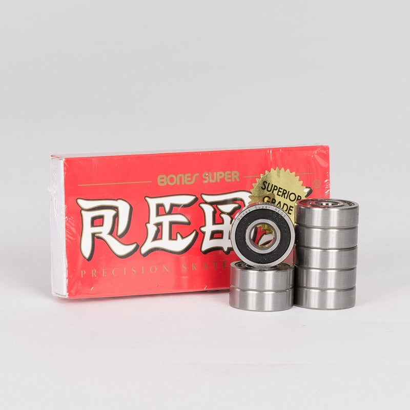Bones Super Reds Bearings x8 - Skateboard