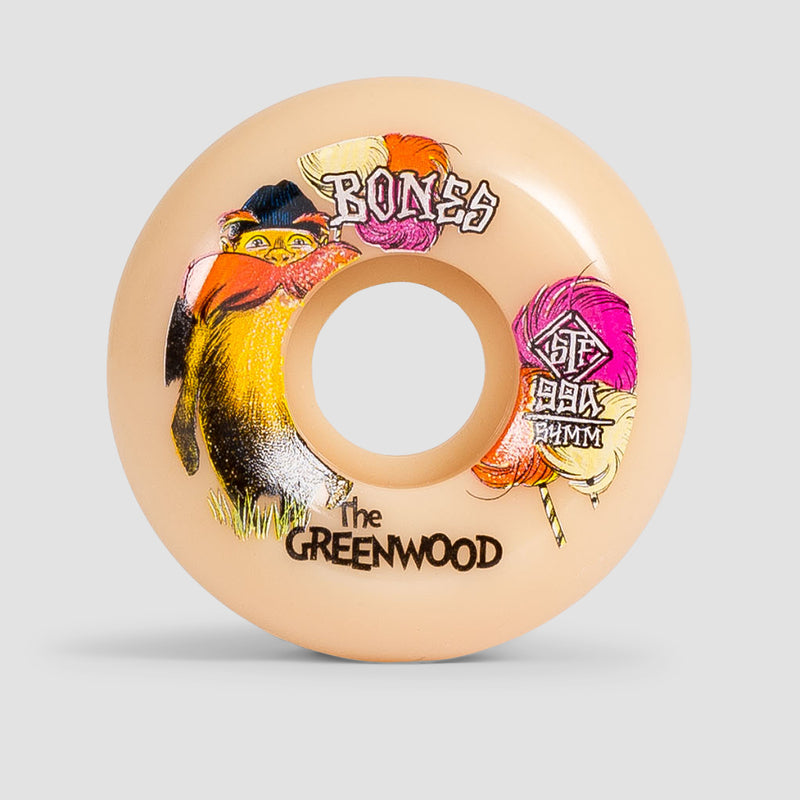 Bones The Greenwood V5 Sidecut 99A STF Wheels White 54mm