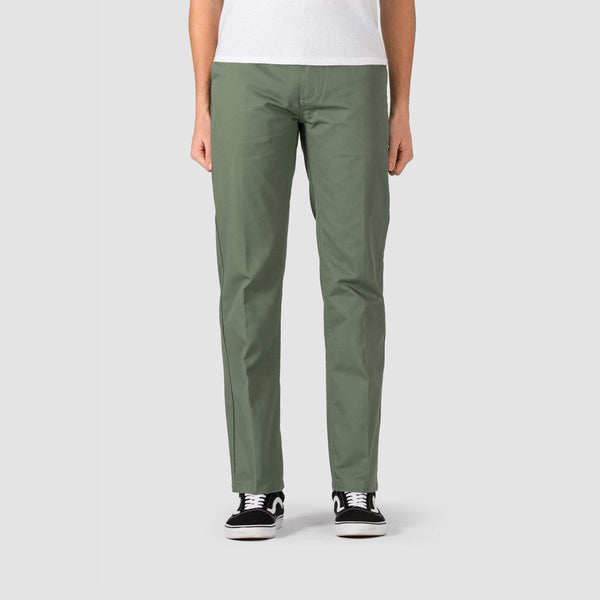 Brixton Labor Chino Pants Washed Chive - Clothing
