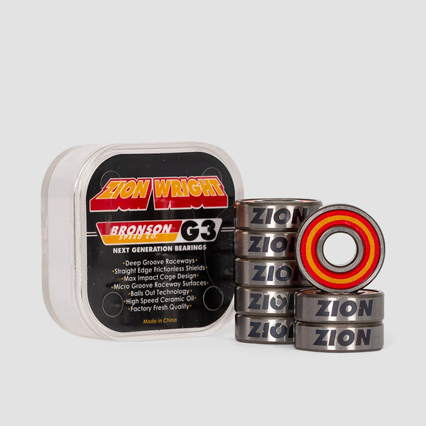 Bronson G3 Zion Wright Pro Bearings x8 Black/Orange