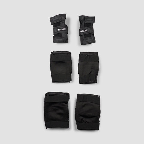 Bullet Combo Deluxe Triple Pad Set Black - Safety Gear