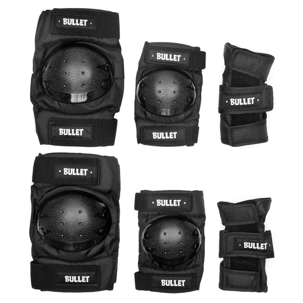Bullet Combo Standard Triple Pad Set Black - Kids - Safety Gear
