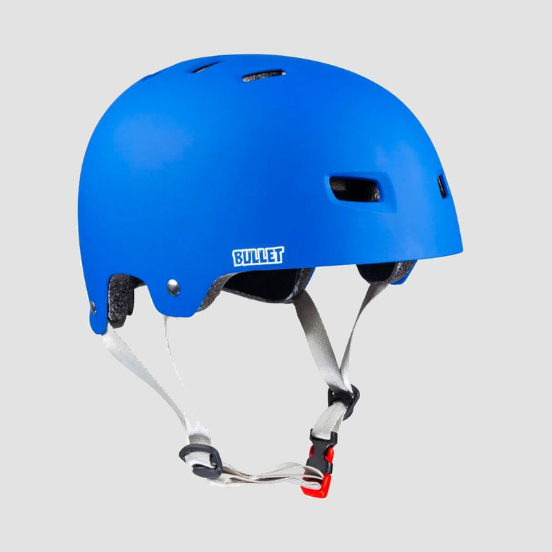 Bullet x Santa Cruz Classic Dot Skate/Bmx Helmet Matt Blue - Safety Gear