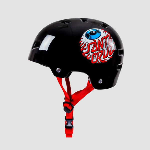 Bullet x Santa Cruz Eyeball Skate/Bmx Helmet Gloss Black - Kids - Safety Gear