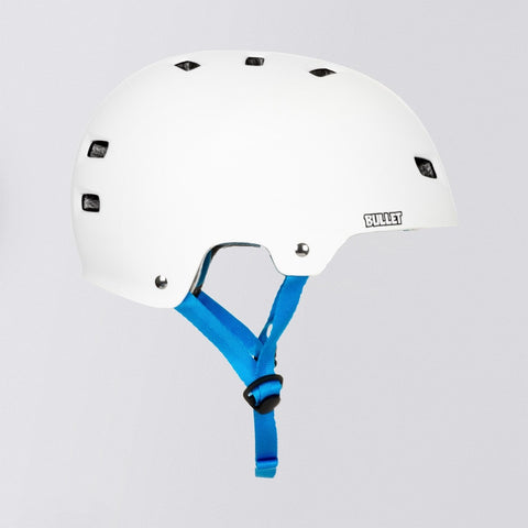 Bullet x Santa Cruz Screaming Hand Skate/Bmx Helmet Matte White - Safety Gear