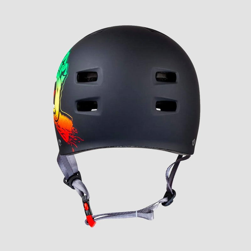 Bullet x Santa Cruz Screaming Hand Skate/Bmx Helmet Rasta - Safety Gear
