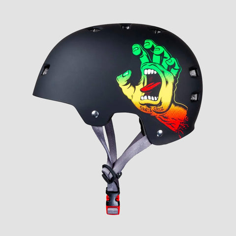 Bullet x Santa Cruz Screaming Hand Skate/Bmx Helmet Rasta