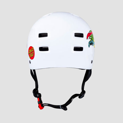 Bullet x Santa Cruz Slasher Skate/Bmx Helmet Gloss White - Kids - Safety Gear