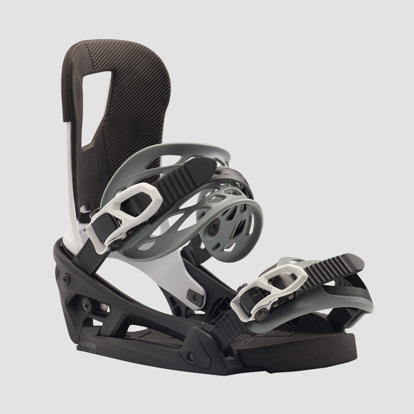 Burton Cartel EST Snowboard Bindings Black/White - Snowboard