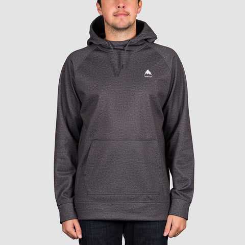 Burton Crown Bonded Pullover Hood True Black Heather