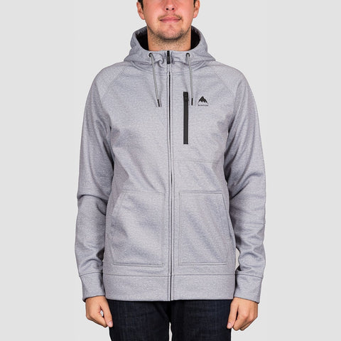Burton Crown Bonded Zip Hood Grey Heather