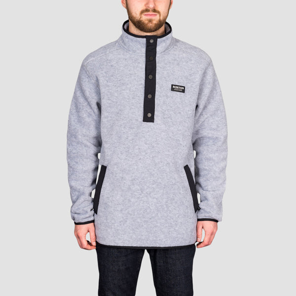 Burton Hearth Pullover Fleece Grey Heather