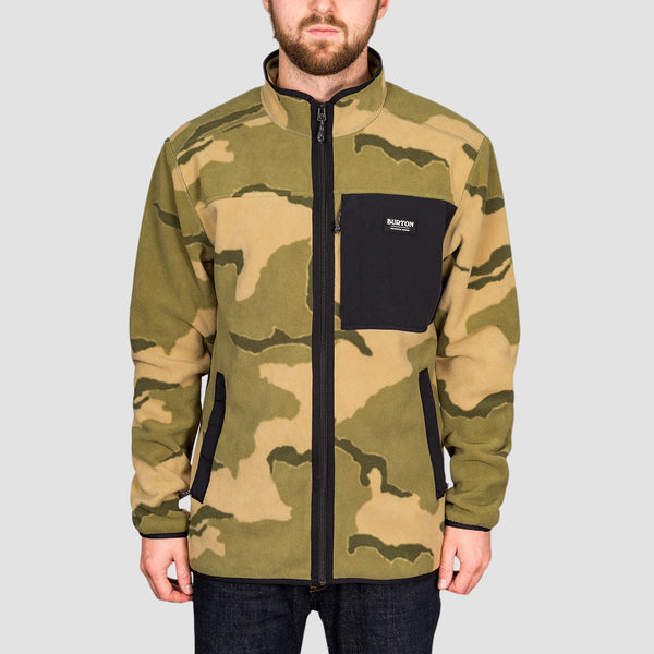 Burton Hearth Zip Fleece Barren Camo/True Black