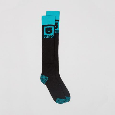 Burton Logo Snow Socks True Black/Everglde - Womens