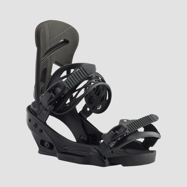 Burton Mission EST Snowboard Bindings Black - Snowboard