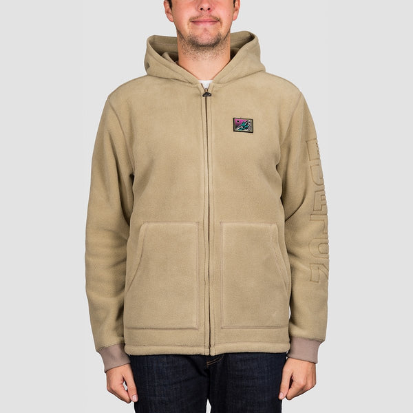 Burton Westmate Polartec Fleece Zip Hood Timber Wolf - Clothing