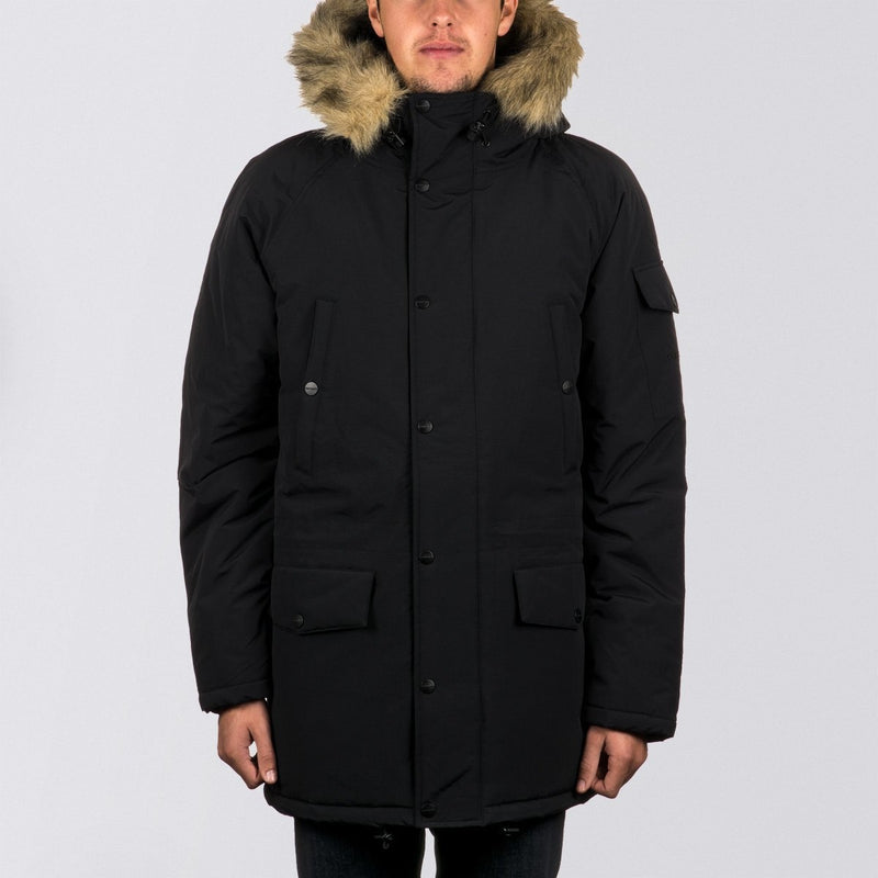 Carhartt WIP Anchorage Parka Jacket Black/Black - Clothing
