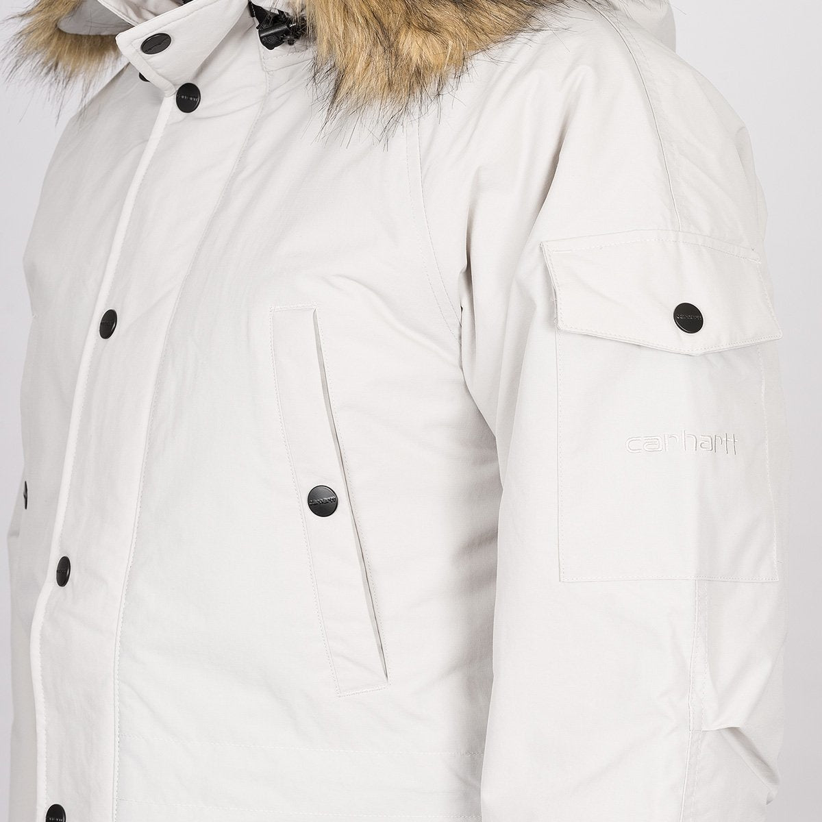 Carhartt WIP Anchorage Parka Jacket Cinder/Off White - Clothing