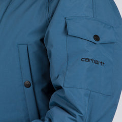 Carhartt WIP Anchorage Parka Jacket Monsoon Blue/Black - Clothing