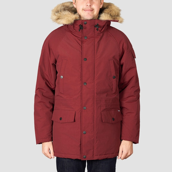 Carhartt WIP Anchorage Parka Jacket Mulberry/Black - Clothing
