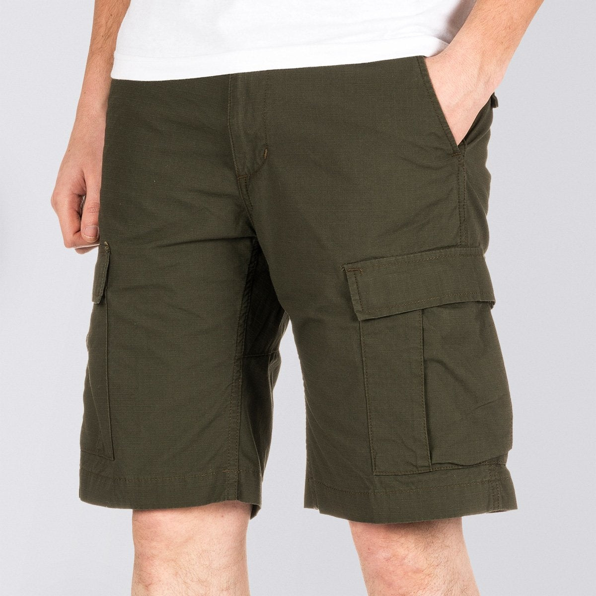 Carhartt WIP Aviation Shorts Cypress Rinsed - Clothing