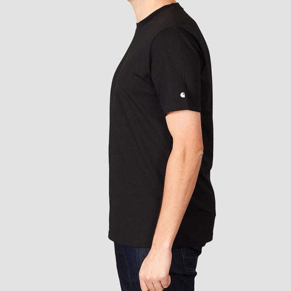 Carhartt WIP Base Tee Black/White - Clothing