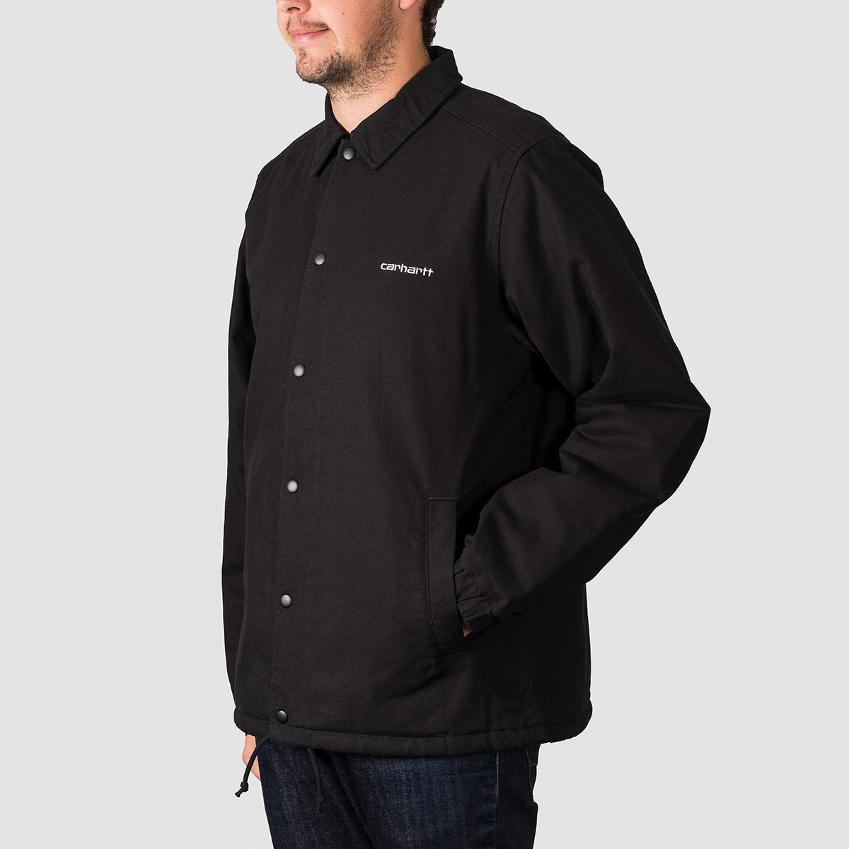 Carhartt WIP Canvas Coach Jacket Black/White - Clothing
