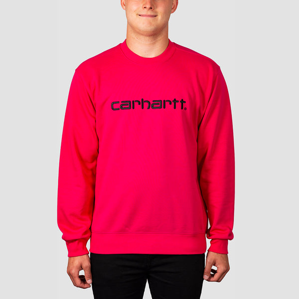 Carhartt WIP Carhartt Crew Sweat Ruby Pink/Black