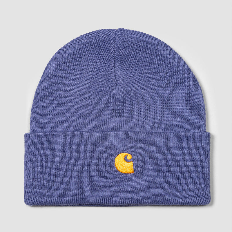 Carhartt WIP Chase Beanie Cold Viola/Gold - Unisex