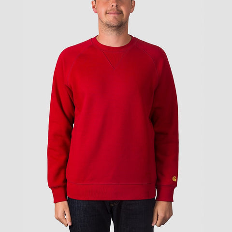 Carhartt WIP Chase Crew Sweat Blast Red/Gold